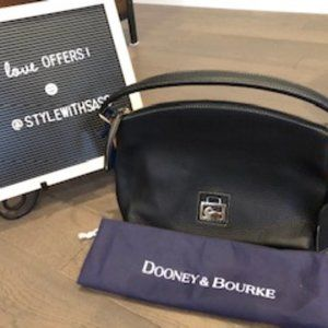 NWOT Dooney Bourke Black Leather Handbag